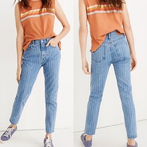 Madewell perfect vintage pin stripe ankle jean